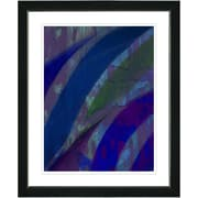 Studio Works Modern ''Cinnabar - Blue'' by Zhee Singer Framed Graphic Art in Blue; Satin Black