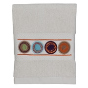 Creative Bath Dot Swirl Embroidered Wash Cloth; Multi
