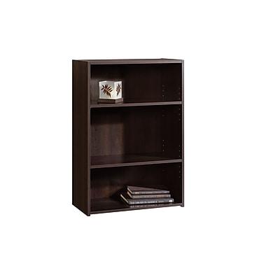 Sauder Beginnings 3-Shelf Bookcase, Cinnamon Cherry
