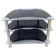 Hodedah Glass 31'' TV Stand