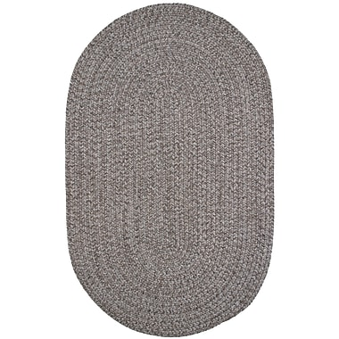 Thorndike Mills Town Crier Brown Heather Indoor/Outdoor Rug; Round 4'