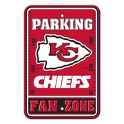 JTD Enterprises NFL Parking Sign; Kansas City Chiefs
