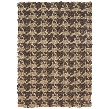 Kosas Home Dogtooth Handspun Jute Brown Area Rug; 4' x 6'