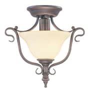 Livex Lighting Coronado Semi Flush Mount; Imperial Bronze