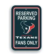 JTD Enterprises NFL Parking Sign; Houston Texans