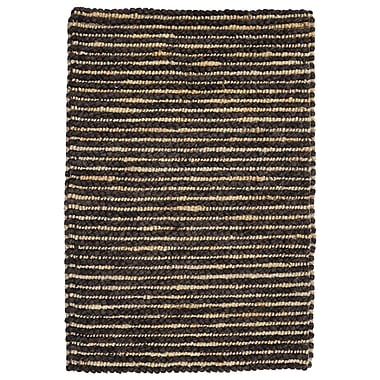 Kosas Home Valerie Wool Jute Black Pepper Area Rug; 8' x 10'