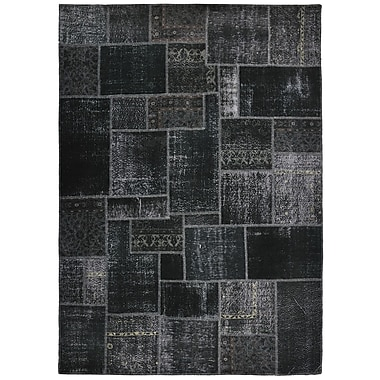 Kosas Home Annata Black Patchwork Area Rug; 8' x 10'