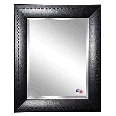 Rayne Mirrors Jovie Jane Stitched Leather Wall Mirror; 35.75'' H x 41.75'' W x 1'' D