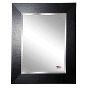 Rayne Mirrors Jovie Jane Wide Leather Wall Mirror; 33'' H x 27'' W x 0.75'' D