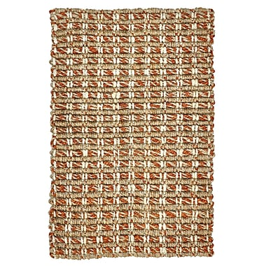 Kosas Home Intoppo Jute Rust/Natural Area Rug; 8' x 10'