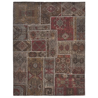 Kosas Home Lavaggio Coffee Patchwork Rug; 4' x 6'