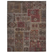Kosas Home Lavaggio Coffee Patchwork Rug; Runner 2'7'' x 9'