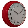 Bai Design 12.7'' School Wall Clock; Red