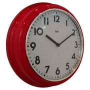 Bai Design 12.7'' School Wall Clock; Red