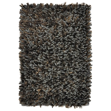 Kosas Home Guimauve Ebony Sable Shag Grey Area Rug; 2' x 3'