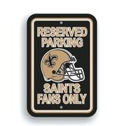 JTD Enterprises NFL Parking Sign; New Orleans Saints