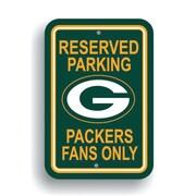 JTD Enterprises NFL Parking Sign; Green Bay Packers