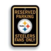 JTD Enterprises NFL Parking Sign; Pittsburgh Steelers