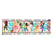 iCanvas Kids Children 'Dancing is Art' Graphic Canvas Wall Art; 12'' H x 36'' W x 1.5'' D