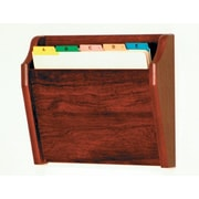 Wooden Mallet Single Tapered Pocket Chart Holder; Dark Red Mahogany