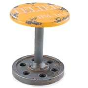 Moe's Home Collection Wheel 17.3'' Bar Stool; Yellow