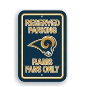 JTD Enterprises NFL Parking Sign; St. Louis Rams