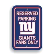 JTD Enterprises NFL Parking Sign; New York Giants