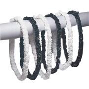 S&S® 34 Black/White TuXedo Party Leis