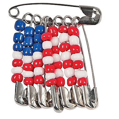 Geeperz™ US Flag Pins Craft Kit, 12/Pack