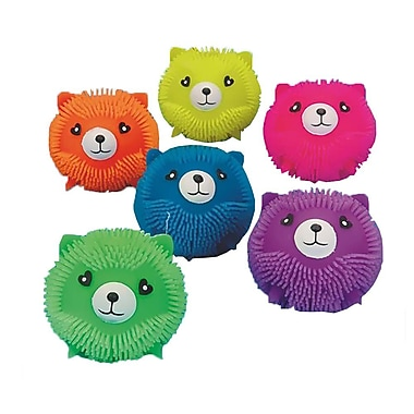 S&S® Kitty Cat Puffer Balls, Assorted, 6/Pack