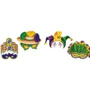S&S® Mardi Gras Paper Half Masks, 12/Pack