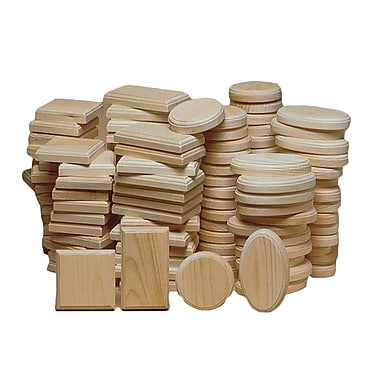 S&S® Unfinished Small Plaque Assortment, 128/Pack