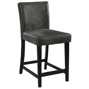 Linon Morocco PVC Bar Stool, Black