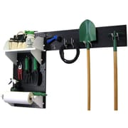 Wall Control Garden Tool Storage Organizer Pegboard Kit, Black Tool Board and White Accessories