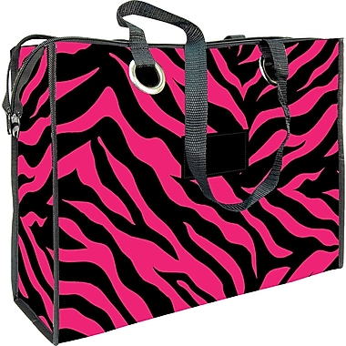 Zebra Stripes Flocked Reusable Bag, 17