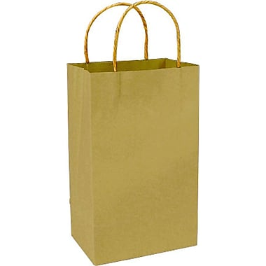 Sac à provisions en papier de couleur, doré, Prime, bte/250