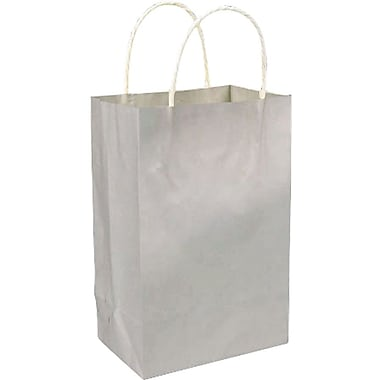 Colour Paper Shopper, Silver, Prime, 250/case