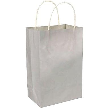 Sac à provisions en papier de couleur, argenté, Prime, bte/250