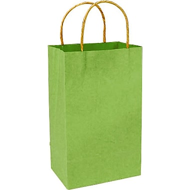 Colour Paper Shopper, Bright Green Pinstripe, Prime, 250/case
