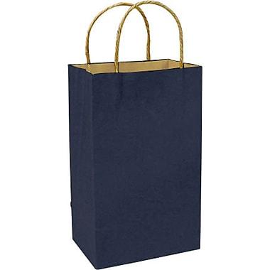 Sac à provisions en papier de couleur, bleu marine, Prime, bte/250