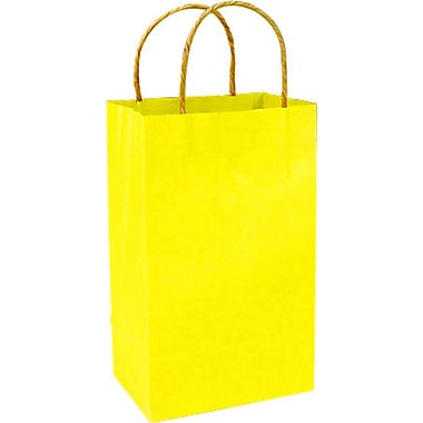 Colour Paper Shopper, Yellow Pinstripe, Prime, 250/case