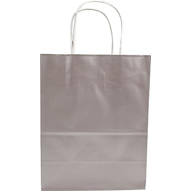 Colour Paper Shopper, Silver, Petite, 250/case