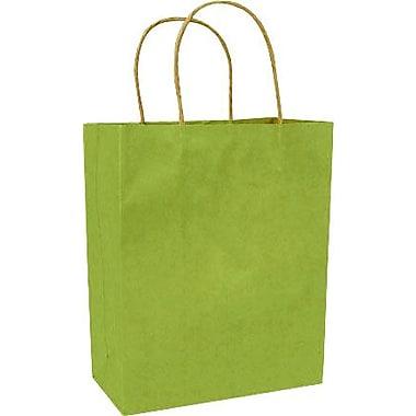 Colour Paper Shopper, Bright Green Pinstripe, Petite, 250/case