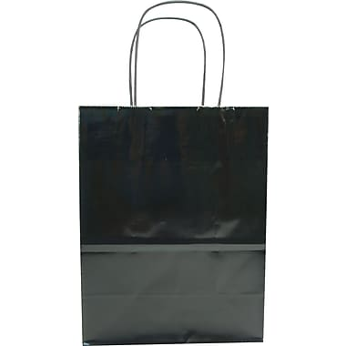 Colour Paper Shopper, Black, Petite, 250/case