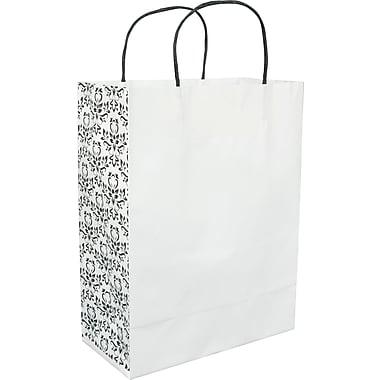 Sac à provisions en papier damassé, Vanity, 10 x 5 x 13 x 5 (po), bte/100