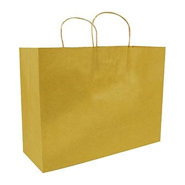 Colour Paper Shopper, Gold, Fashion, 250/case