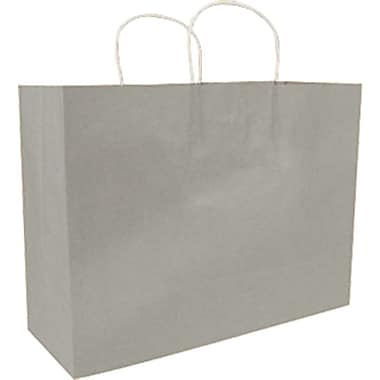Colour Paper Shopper, Silver, Saville, 200/Box