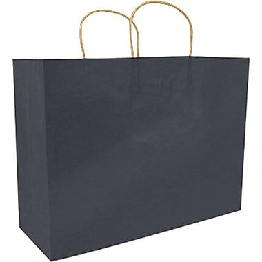 Colour Paper Shopper, Navy Blue, Fashion, 250/case