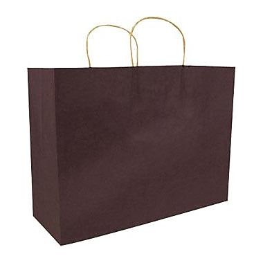 Sac à provisions en papier de couleur, chocolat, mode, bte/250