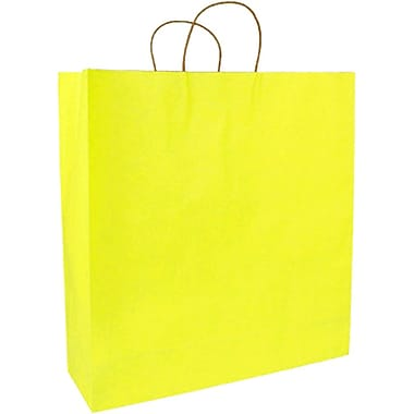 Colour Paper Shopper, Yellow Pinstripe, Saville, 200/case